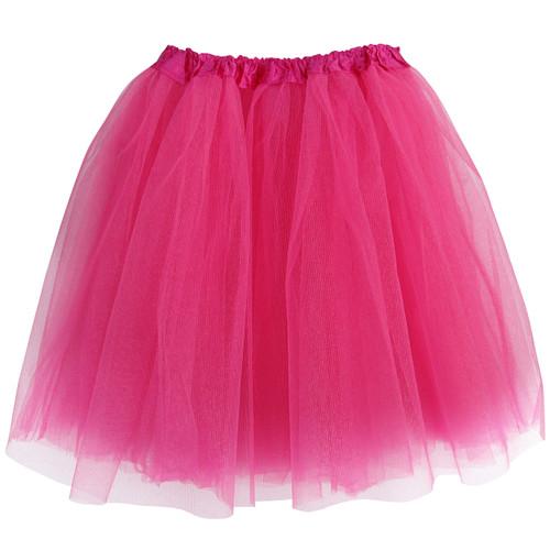 Adult Fushia Ballet Tutu 3 Layer Soft Tulle Women Teen