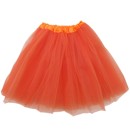 Adult Orange Ballet Tutu 3 Layer Soft Tulle Women Teen