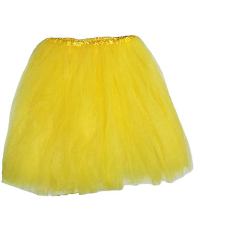 Adult Yellow Ballet Tutu 3 Layer Soft Tulle Women Teen