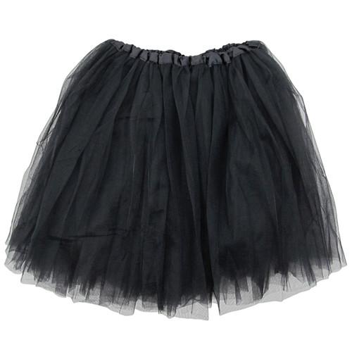 Adult Black Ballet Tutu 3 Layer Soft Tulle Women Teen