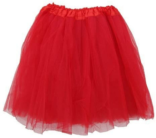 Adult Red Ballet Tutu 3 Layer Soft Tulle Women Teen