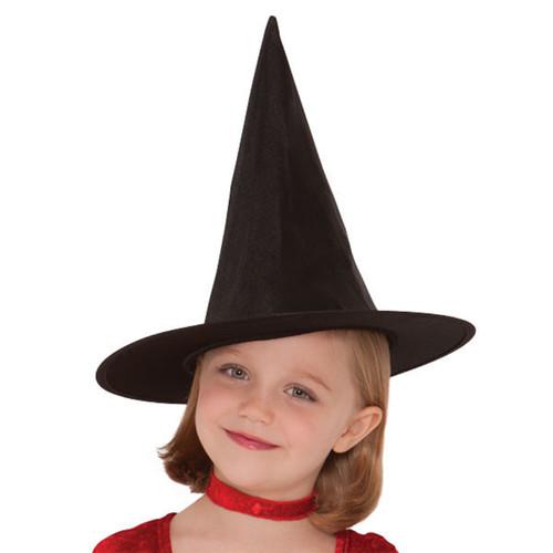 Child Girls Classic Black Halloween Witch Hat