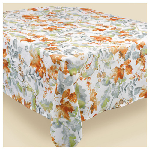 Autumn Leaves All over Print Fabric 60 x 84 inch Tablecover Thanksgiving