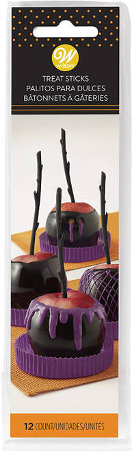 Caramel Apple Black Branch Stick Picks 12 Ct Wilton