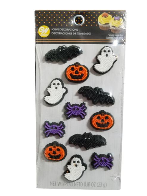 Halloween Mix Spider Jack O'Lantern Bat Ghost 12 Dot Matrix Icing  Wilton