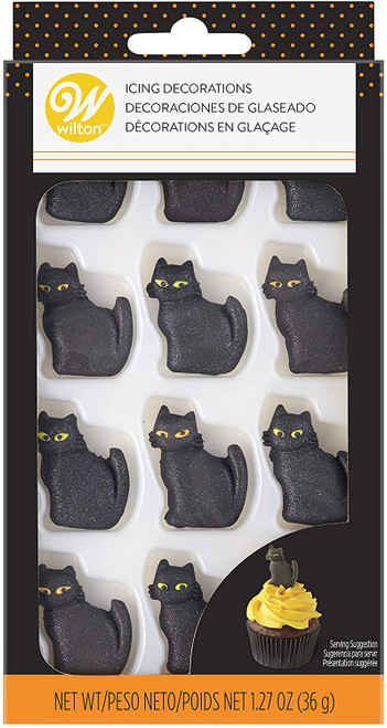 Black Cat Royal Icing Decorations 12 Ct Wilton