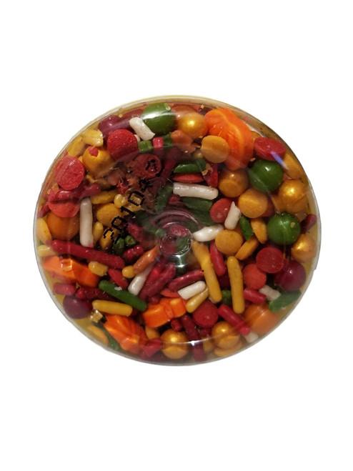Autumn Fall  Sprinkles Mix Decorations 4.12 oz Wilton Halloween