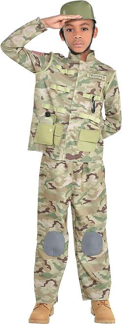 Combat Soldier Costume Boys Child Medium 8-10