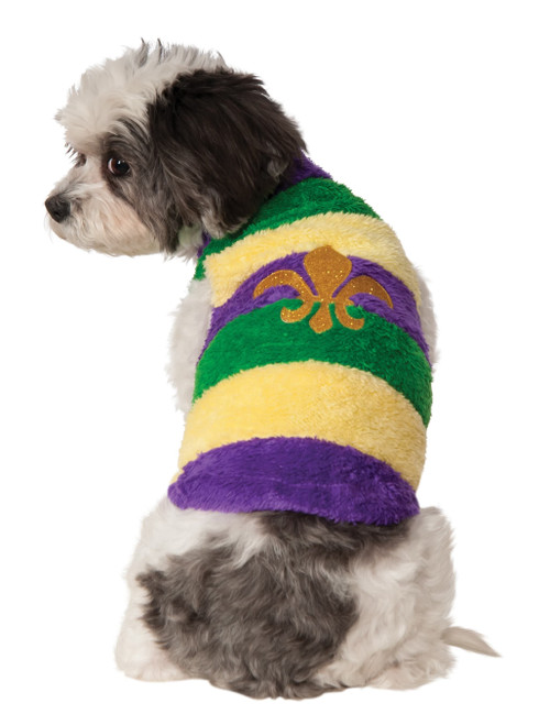 Mardi Gras Sweater Fleur De Lis Large Dog Rubies Pet Shop Costume