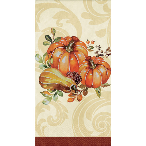 Autumn Wreath Thanksgiving 16 Ct 2 Ply Guest Napkins