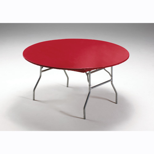 """Stay Put Real Red Round Plastic Tablecover 60"""" Banquet Wind Proof Stayput"""