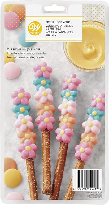 Wilton Flower Pretzel Candy Mold 6 cavities 1 design