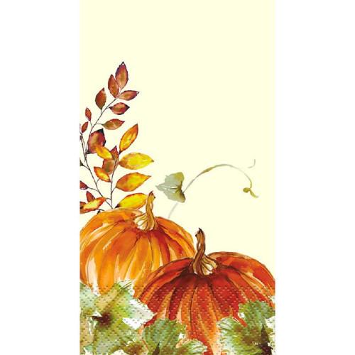 Watercolor Fall Pumpkin 16 Ct Guest Napkins