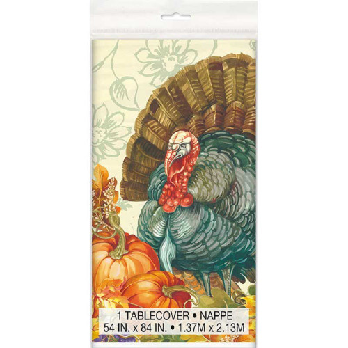 Traditional Thanksgiving Turkey 1 Tablecover 54 x 84