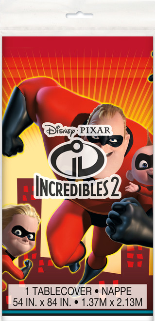 Incredibles Party Tablecover Plastic ct 54 x 84