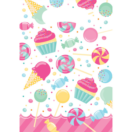 Candy Bouquet Birthday Party Favor Bags 8 Ct