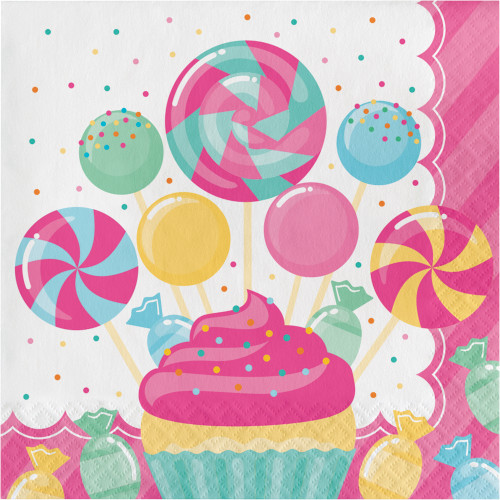 Candy Bouquet Birthday 16 Ct Luncheon Napkins