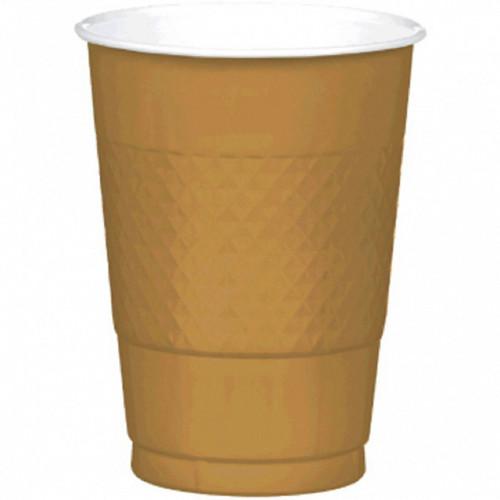 Gold Sparkle 16 oz Plastic Cups 20 ct