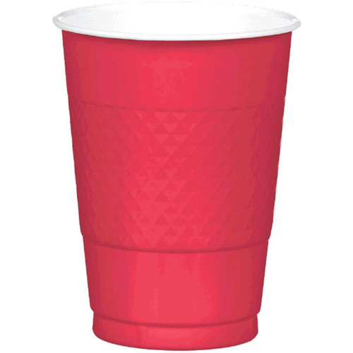 Apple Red 16 oz Plastic Cups 20 ct
