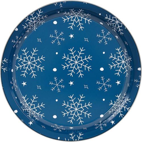 Wilton Non Stick Tin Steel 2 Pc Holiday Pie Pan Set Snowflake Blue