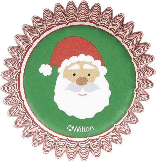 Wilton Christmas Santa 100 ct Mini Baking Cups Cupcake Liners