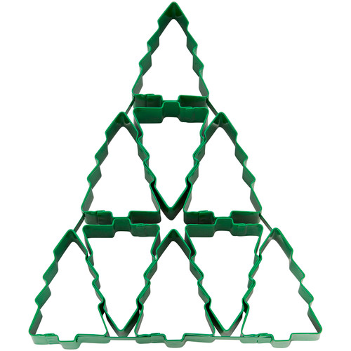Wilton Green Christmas Tree Multi Cookie Cutter Makes 9