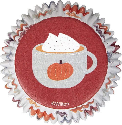 Welcome Fall 75 ct Baking Cups Cupcake Liners Wilton Hot Chocolate