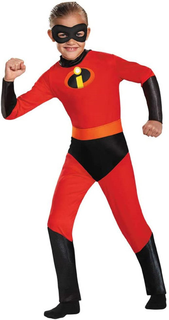 Incredibles Dash Costume Small  4 -6 Red Jumpsuit with Mask