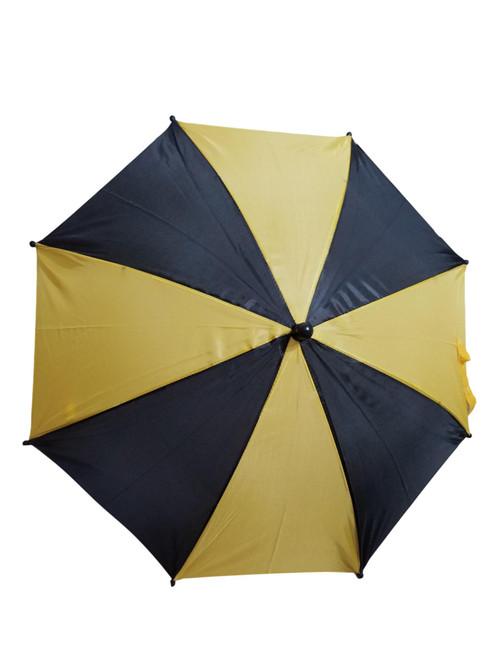 "Black Yellow Second Line Parasol 16"" or Kids Umbrella"