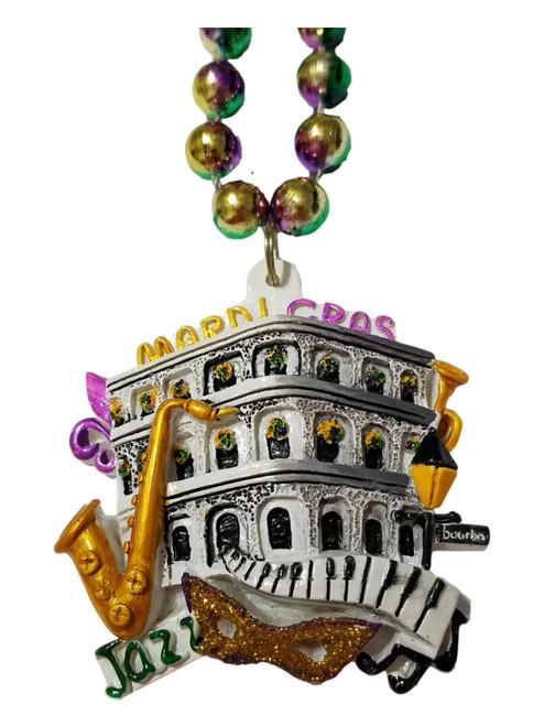 Mardi Gras Balcony Beads Party Favor Jazz Mask Keyboard