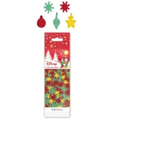 MIckey Snow and Ornament Sprinkles Candy Decorations Wilton
