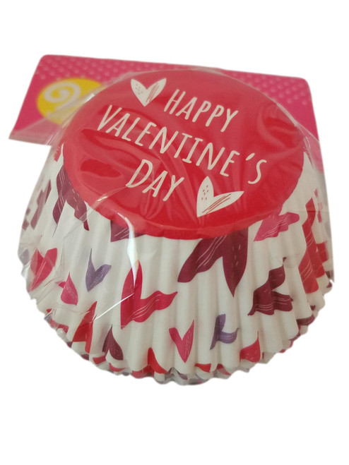 Happy Valentine's Day Mixed Hearts 75 Ct Baking Cups Cupcake Liners Wilton