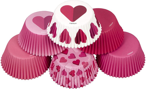 Be Mine Valentine's Day Hearts 150 ct Baking Cups Cupcake Liners Wilton