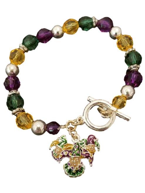 Mardi Gras Jester Charm Bracelet