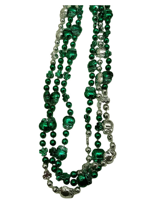 Shamrock Pot of Gold Green Silver St Patricks Beads 12 Necklaces Party Favors