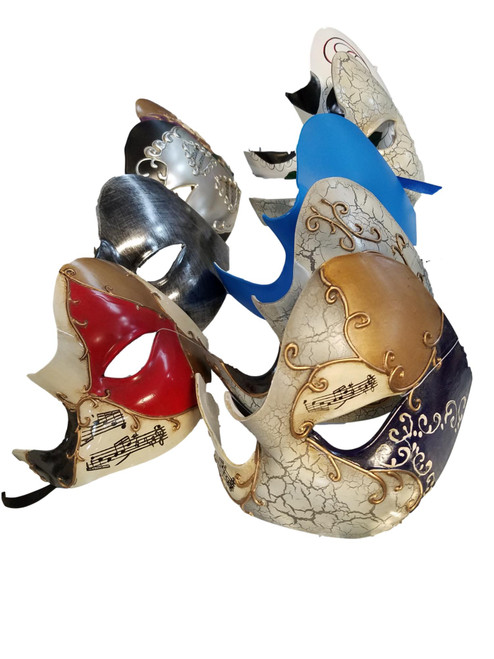9 Deluxe Phantom Mask Value Package Masquerade Mardi Gras Masks