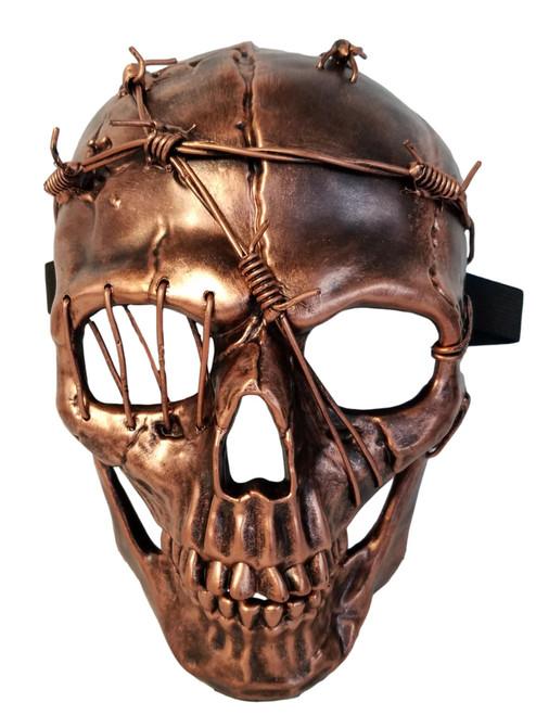 Steampunk Thorn Skull Copper Halloween Masquerade Mask