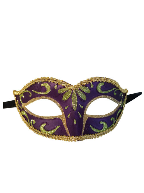 Purple Green Gold Child Small Teen Adult Venetian Mask Masquerade Party