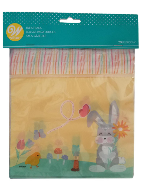Easter Bunny Flower 20 Ct Sandwich Bags with Zipper
