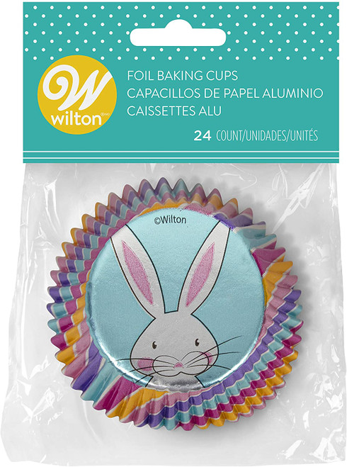 Wilton Hip Hop Easter Bunny 24 ct Foil Standard Baking Cups Cupcake Liners