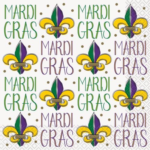 Jazzy Mardi Gras Lunch Napkins 16 ct