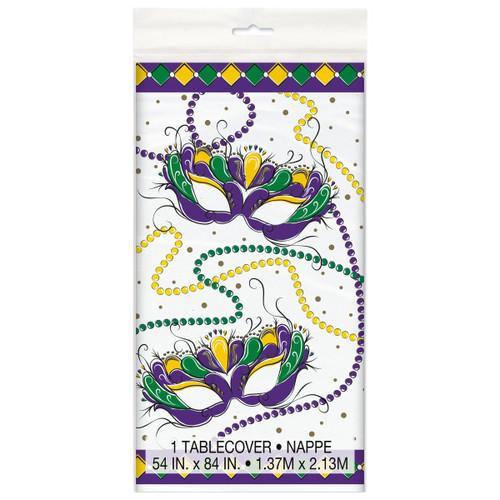 Jazzy Mardi Gras Tablecover Plastic 54 x 84