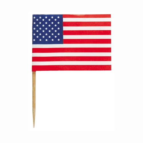 "American Flag Cupcake Dessert Picks 30 ct 2.5"""