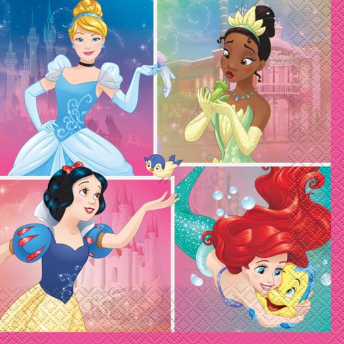 Dream Big Princess 16 Ct Luncheon Napkins Tiana Snow White Ariel