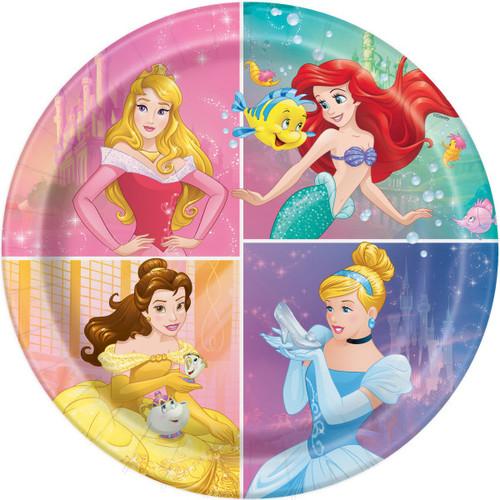 Dream Big Princess 8 Ct Luncheon Plates Cinderella Aurora Belle Ariel