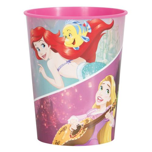 Dream Big Princess 16 oz One Plastic Favor Cup Ariel Belle Rapunzel