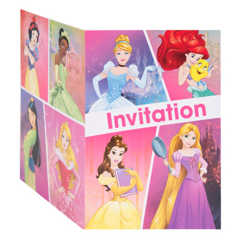 Dream Big Princess 8 Ct Invitations Tiana Rapunzel Belle Snow White