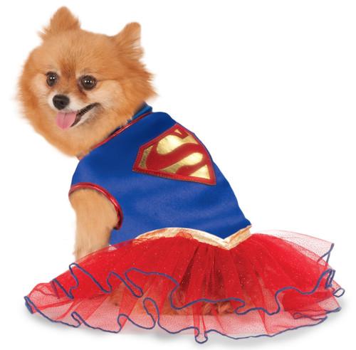 Supergirl Tutu Dress XSmall Dog Costume Rubies Pet Shop XS