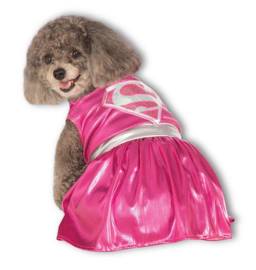 Pink Supergirl Dress Small Dog Costume Rubies Pet Shop