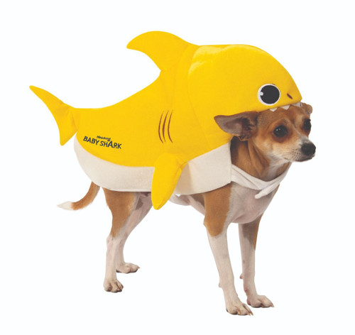 Baby Shark Yellow XLarge Dog Pet Costume Rubies Pet Shop  XL